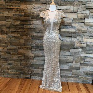 Nordstrom Dress the Population Gold Sequins Dress